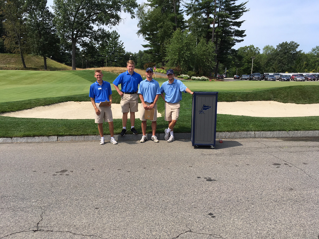 . Vesper caddies, from left, Andrew Dickson of Dracut, Jeff Michell of Nashua, Brett Daley of North Andover and Jack Siefert of Westford