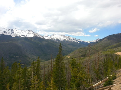View outside of the town of Steamboat Springs in June.