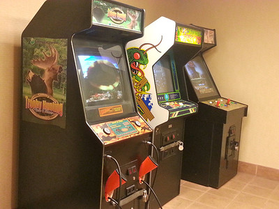The game room at the Holiday Inn.