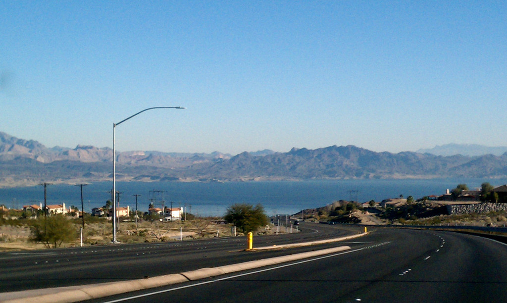 Lake Mead on the way to the Hoover Dam.