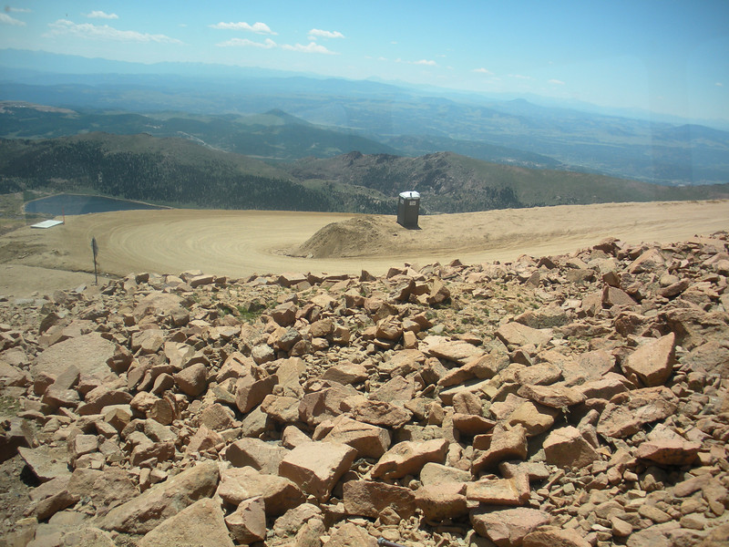 Instead of taking the train, you could drive the winding road up to Pikes Peak.