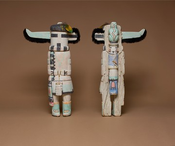 "Hopi ""One-Horn"" Figure (front and back shown) by Walter Howatu"