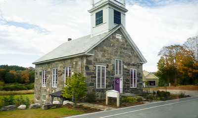 Driving by the First Universalist Parish of Chester, Vt - 1845