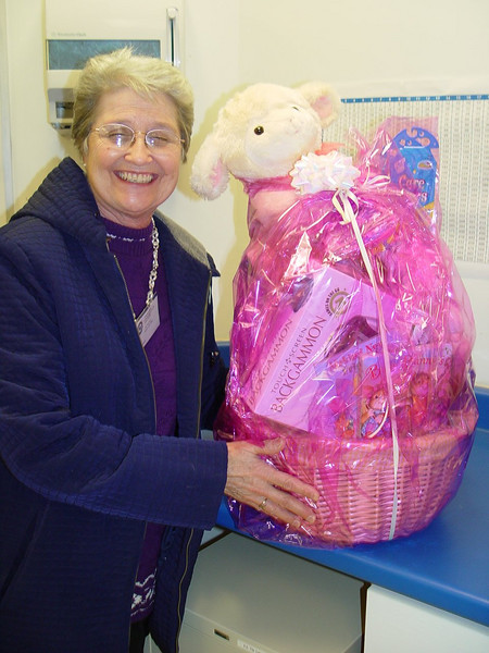 Winner of the Easter Basket raffle is Reina Boudreau. Way to go, Reina!