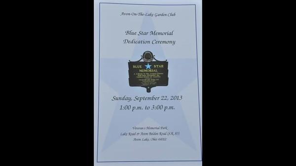 Blue Star Dedication, Avon Lake, Ohio
