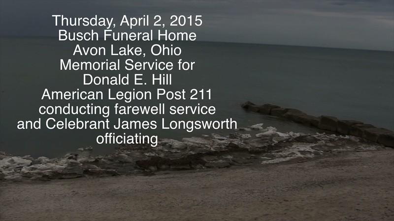 VIDEO:  Donald E. Hill--Part 1 of 3 ( 19 1/2 mins )