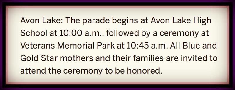 Avon Lake, OH Memorial Day Parade, Mon., May 28, 2018