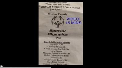 Video:  15 mins - Spl Olympics Strongsville Track Meet in Medina, OH., Sat., June 2, 2018