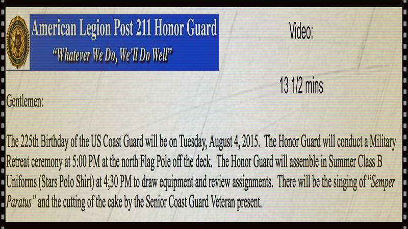 Coast Guard 225th Birthday