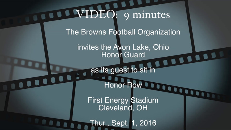 Honor Guard, Browns, 9-1-2016