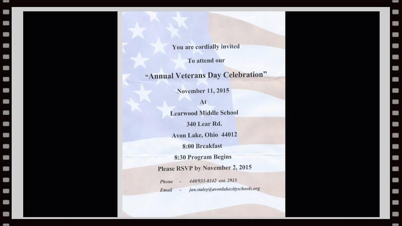 Learwood School, Avon Lake, OH, 11-11-2015~~Veterans Day