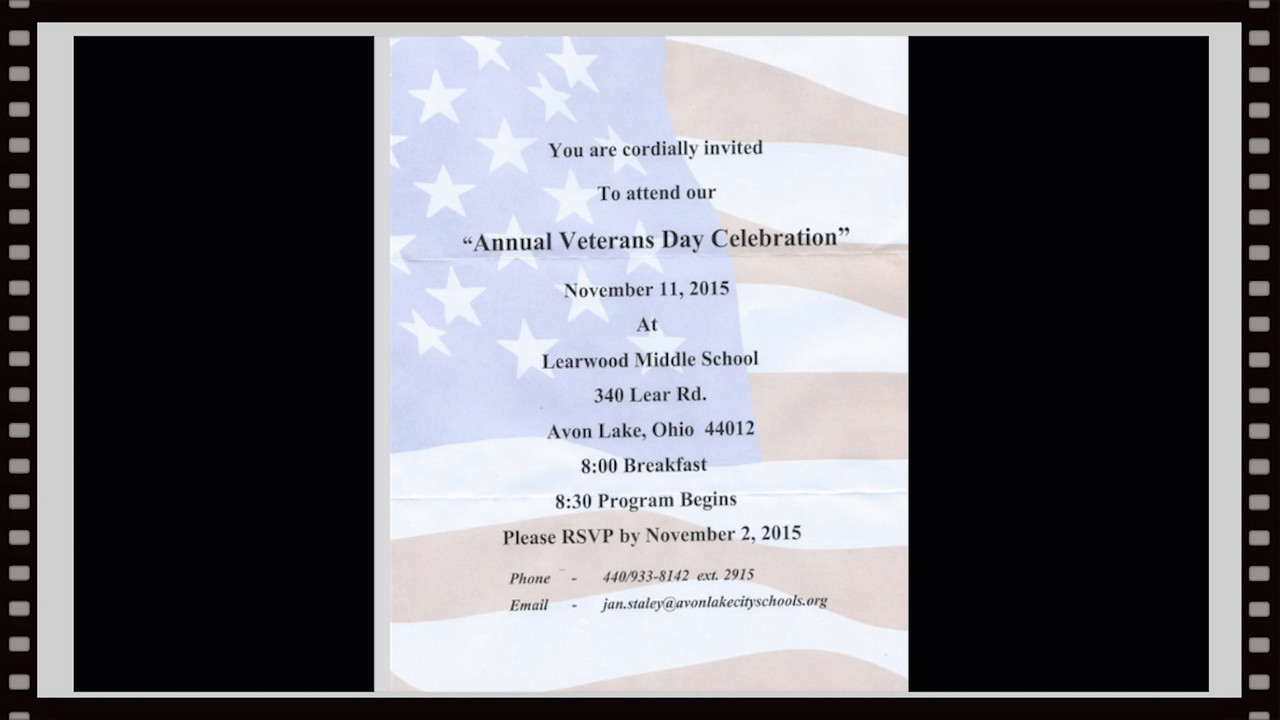 Learwood School, Avon Lake, OH, 11-11-2015~~Veterans Day