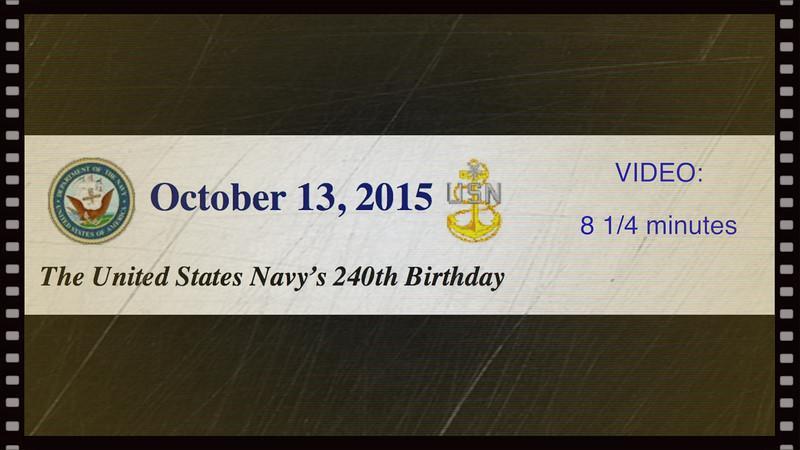 Navy's 240th Birthday - Post 211, Avon Lake, OH