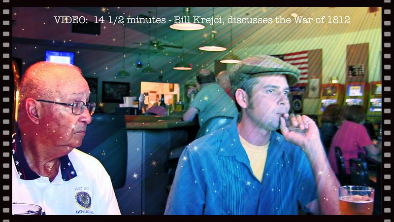 VIDEO:  14 1/4 mins. ~~ Bill Krejci - Guest of Post 211