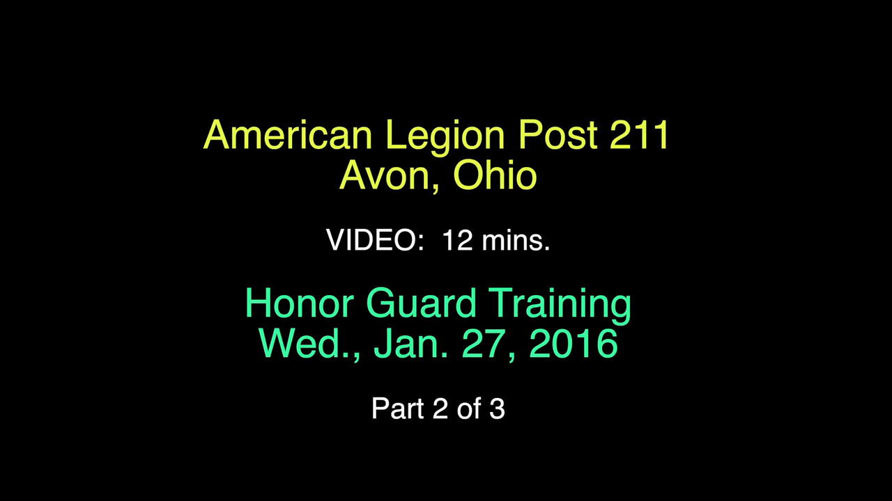 VIDEO:  -Training, Wed., Jan. 27, 2016--Part 2 of 3