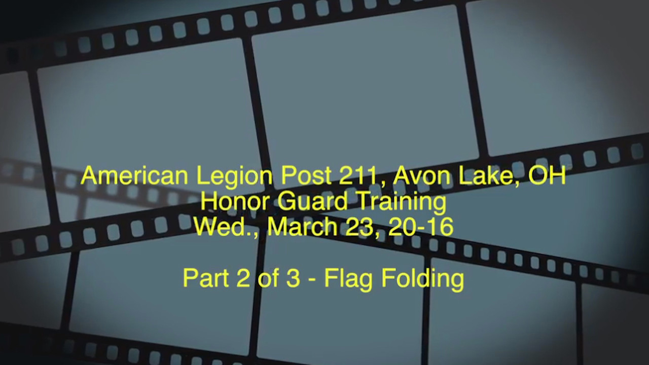 Part 2 of 3 - Post 211 Honor Guard Training, 03-23-2016