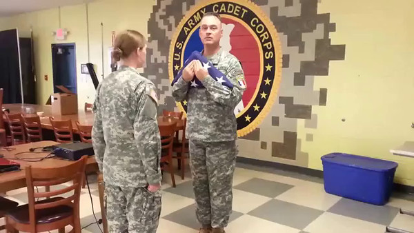 VIDEO:  7:50 secs - Two-man Flag-Folding, U. S. Army Cadet Corps.