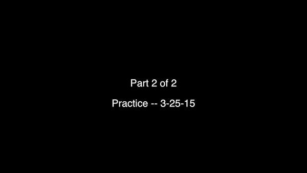 VIDEO:  Part 2 of 2 American Legion Practice