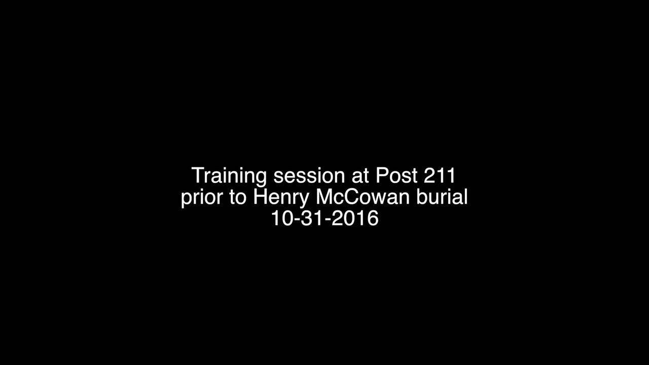 VIDEO:  Training--Mon., Oct. 31, 2016