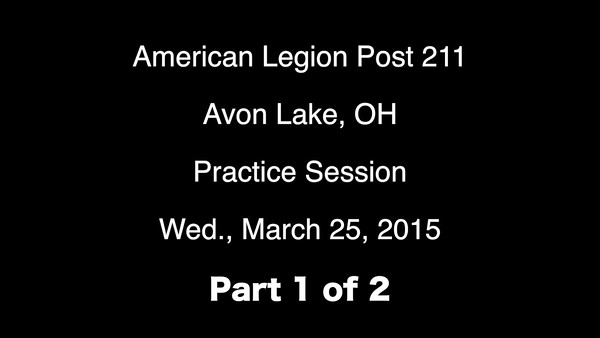 VIDEO:  Part 1 of 2 - Post 211 Training Session 3-25-15