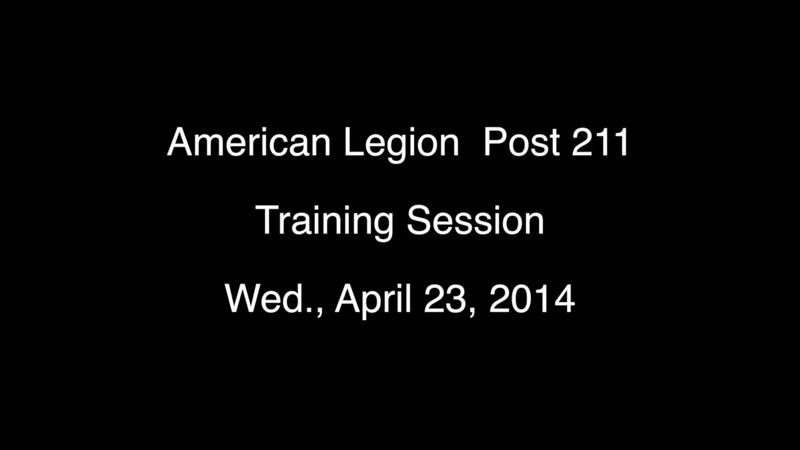 Post 211 Training 4-23-2014