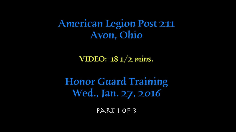 VIDEO:  Post 211 Training, Wed., Jan. 27, 2016