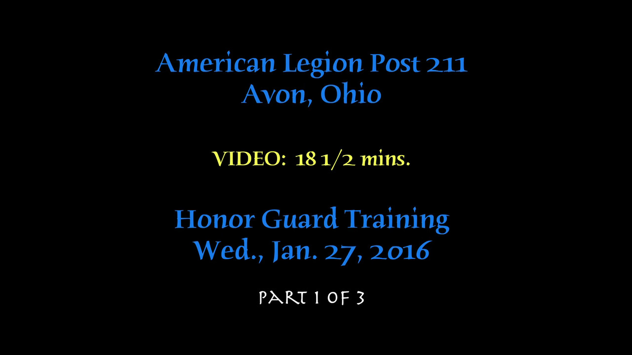 VIDEO:  Post 211 Training, Wed., Jan. 27, 2016