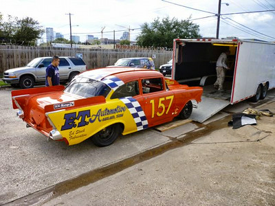 Custom wrap on a 57 Chevy race car for E.T. Automotive done in Dallas, TX.www.skinzwraps.com