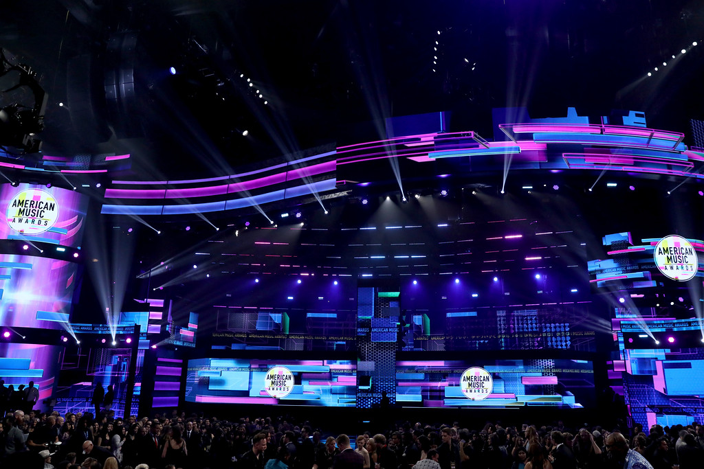 . A general view of atmosphere at the American Music Awards at the Microsoft Theater on Sunday, Nov. 19, 2017, in Los Angeles. (Photo by Matt Sayles/Invision/AP)