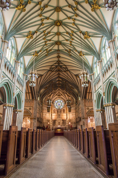 Inside a cathedral in Charlottetown, Prince Edward Island