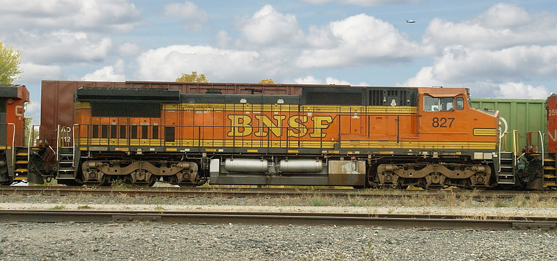 Image taken in the CN Fort Frances yard. This BNSF unit was in between two CN units.