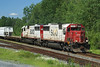 SOO EMD SD60's 6021 and 6041 at MP 45 of the Ignace Subdivision in Northwestern Ontario.