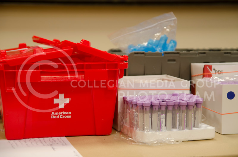 American Red Cross fall blood drive at K-State Union on September 25, 2017 (Saya Kakim | Collegian Media Group)