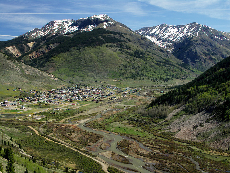 Silverton, northern terminus of the Durango and Silverton Railroad