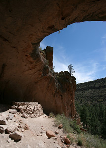 Kiva in a Cave from the side