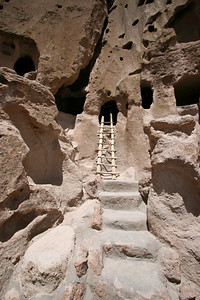 Ladder to cliff dwelling