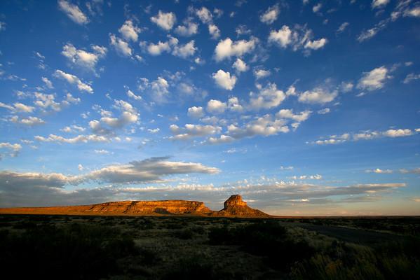 Fajada Butte, sunset