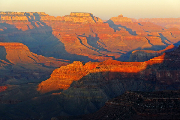 The golden hour's spectacle, South Rim, Grand Canyon, Arizona