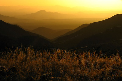 Sunset view from the Four Peaks Wilderness, Tonto National Forest, Arizona