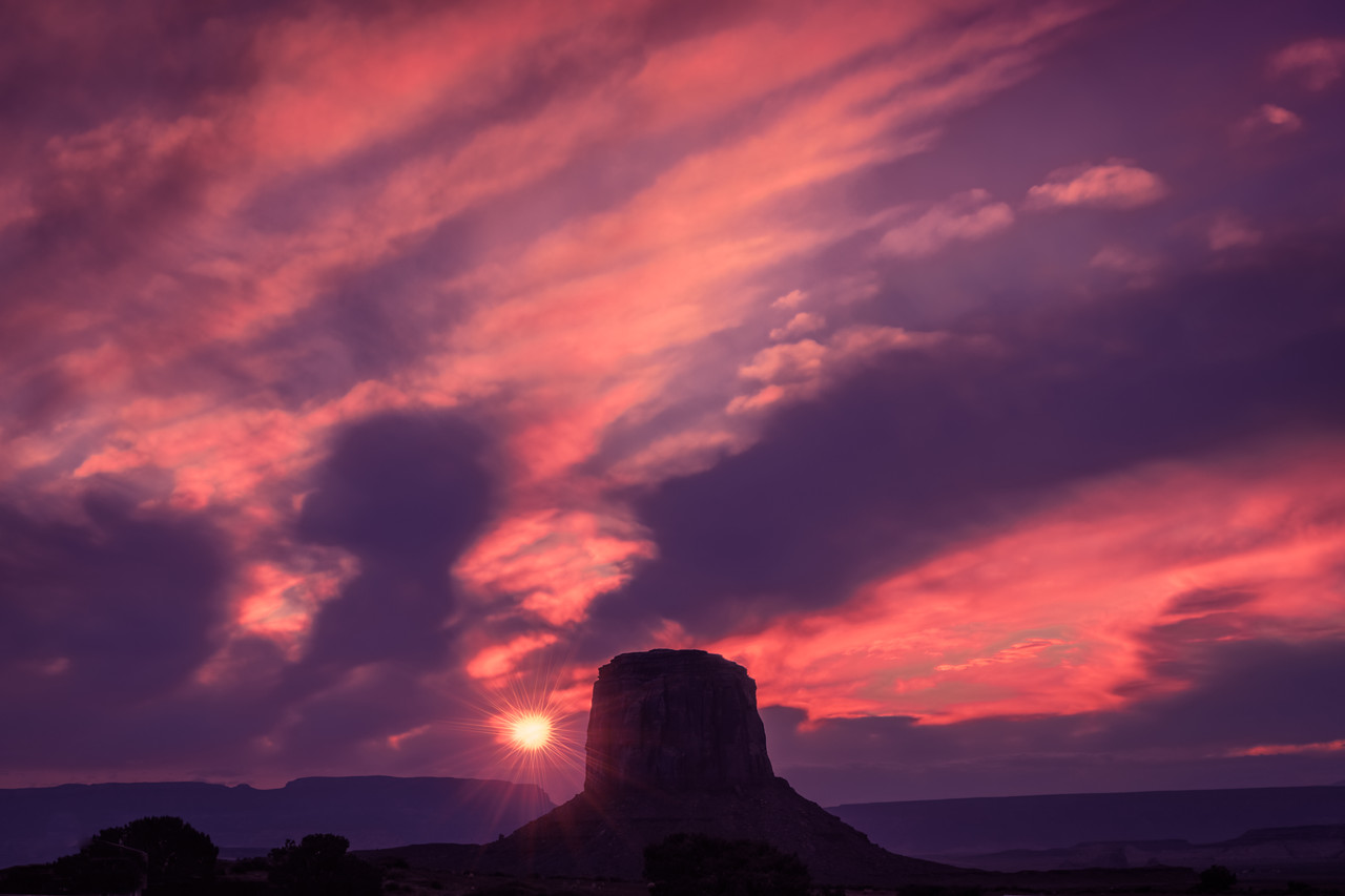 Colorful Sunset in Monument Valley