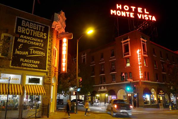 Night time in Flagstaff, AZ.