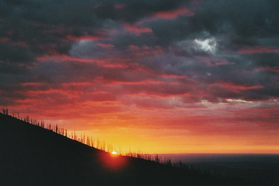 Sunrise from the top of Mt. Elden, Coconino National Forest, Arizona.