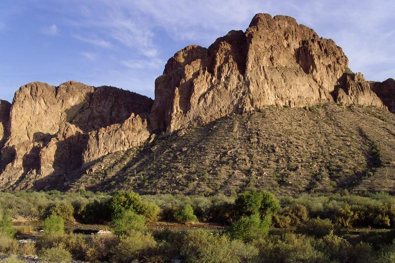 Bluffs near the Lower Salt River, Arizona.