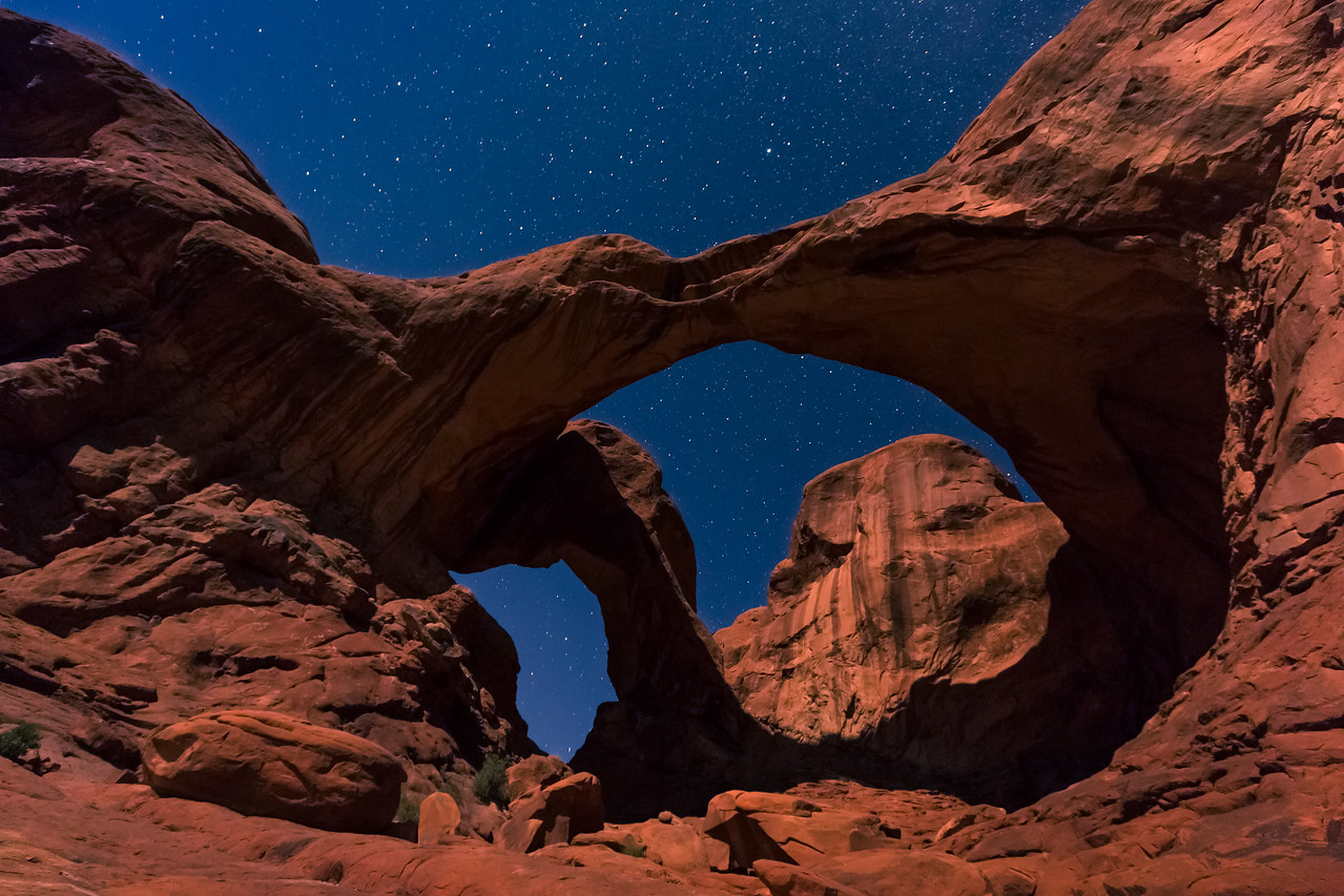 Double Arch in the Moonlight
