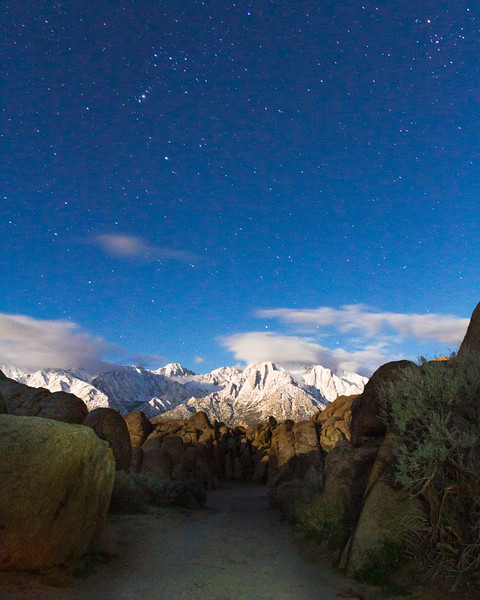 The moon lit up the hills and rocks so that I could hike and climb almost the whole night without my head lamp. Mount (Not pictured is Alo trying his damnedest to walk into the shot). Camera: Canon 7D  Shutter Speed: 30sec Aperture:f/6.3 ISO: 1600 . . . . . . . . #nightphotography #longexsposure #landscape #alabamahills #blmland #mountwhitney #overlandphotos #landscapephotography #4x4 #landscape_collection #landscape_capture #stars #sierras #mountainscapes #mountains