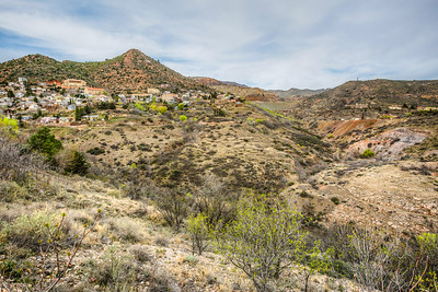 Jerome, Arizona - old mining town on the side of a mountain