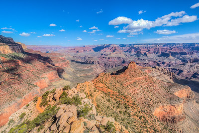 Shot from Ooh Aah Point along the South Kaibab Trail at the Grand Canyon