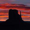 Sunset on West Mitten Butte ©