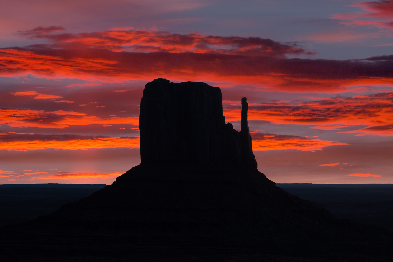 Sunset on West Mitten Butte, Monument Valley