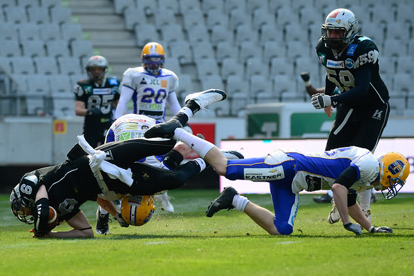 INNSBRUCK, FOOTBALL AFL, 23.03.2013, Raiders Tirol vs Graz Giants